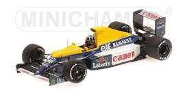 Williams Renault - 1991 blue/yellow - 1:43 - Minichamps - 437910000 - mc437910000 | Tom's Modelauto's
