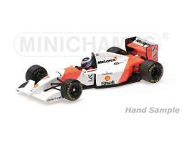 Minichamps - McLaren Honda - mc537934307 : 1993 McLaren Ford MP4/8 *Mika Hakkinen* Japanese GP *Resin Series*, white/orange