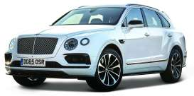 Bentley  - white - 1:43 - Bburago - 30384w - bura30384w | Toms Modelautos