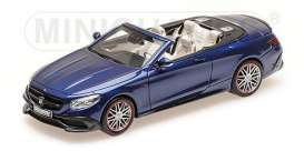 Brabus Mercedes Benz - 2016 dark blue - 1:43 - Minichamps - 437034231 - mc437034231 | Tom's Modelauto's