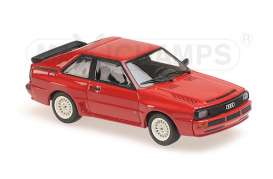 Audi  - 1984 red - 1:43 - Maxichamps - 940012120 - mc940012120 | Toms Modelautos