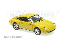 Porsche  - 1993 yellow - 1:43 - Maxichamps - mc940063000 | Tom's Modelauto's