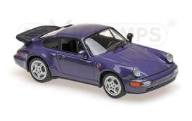 Porsche  - 1990 purple metallic - 1:43 - Maxichamps - 940069100 - mc940069100 | Tom's Modelauto's