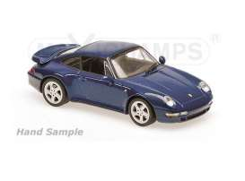 Maxichamps - Porsche  - mc940069201 : 1997 Porsche 911 Turbo S (993), blue metallic