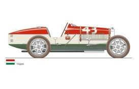 Bugatti  - T35 *Hungary* 1924 red/white/green - 1:18 - CMC - 100-014 - cmcB014 | Tom's Modelauto's
