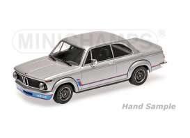 BMW  - 1973 silver - 1:18 - Minichamps - mc155026201 | Tom's Modelauto's
