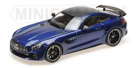 Mercedes Benz  - 2017 blue metallic - 1:18 - Minichamps - 155036022 - mc155036022 | Tom's Modelauto's