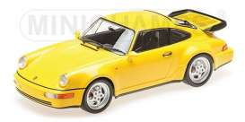 Porsche  - 1990 yellow - 1:18 - Minichamps - 155069100 - mc155069100 | Tom's Modelauto's