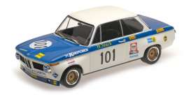 BMW  - 2002 1971 blue/white - 1:18 - Minichamps - 155702701 - mc155702701 | Toms Modelautos
