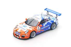 Porsche  - 2016 blue/orange - 1:43 - Spark - UK001 - spaUK001 | Toms Modelautos