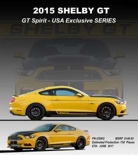 GT Spirit - Ford Shelby - GTUS002 : 2015 Shelby GT *resin series*, yellow/black