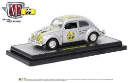 Volkswagen  - 1952 silver metallic/black/yellow - 1:24 - M2 Machines - 40300moon01A - M2-40300moon01A | Tom's Modelauto's