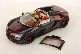 Ferrari  - burgundy/black carbon - 1:18 - MR Collection Models - MRBUG04LF | Toms Modelautos