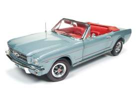 Auto World - Ford Mustang - AMM1103 : 1965 Ford Mustang Convertible *American Muscle Series*, silver/gray