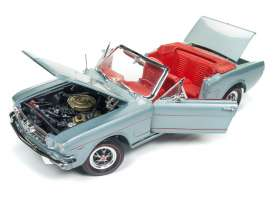 Ford  - Mustang Convertible 1965 silver/gray - 1:18 - Auto World - 1103 - AMM1103 | Tom's Modelauto's
