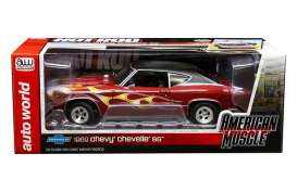 Chevrolet  - Chevelle SS396 Hardtop 1971 maroon/flames - 1:18 - Auto World - amm1108 - AMM1108 | Tom's Modelauto's