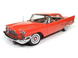 Chrysler  - 1957 red - 1:18 - Auto World - AMM1110 | Tom's Modelauto's