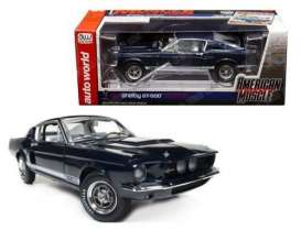 Shelby  - 1967 blue - 1:18 - Auto World - AMM1111 | Tom's Modelauto's