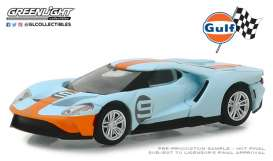 Ford  - GT 2017 gulf blue/orange - 1:64 - GreenLight - 29909 - gl29909 | Tom's Modelauto's