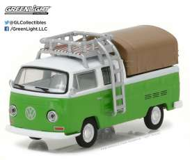 GreenLight - Volkswagen  - gl29870C : 1971 Volkswagen Type 2 Double Cab Pickup with Roof Rack and Canopy *Club Vee-Dub series 5*
