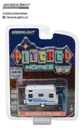 GreenLight - Winnebago  - gl34020C : 1964 Winnebago *Hitched homes series 2*, white/blue