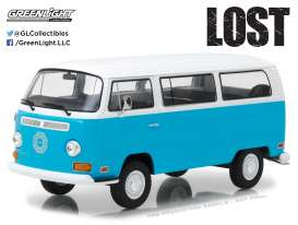 Volkswagen  - T2B *Lost* 1971 bleu/white - 1:24 - GreenLight - gl84033 | Tom's Modelauto's