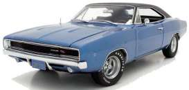 Dodge  - 1968 blue - 1:18 - Auto World - SS111 - AWSS111 | Toms Modelautos