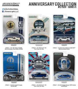 GreenLight - Assortment/ Mix  - gl27920~12 : 1/64 Anniversary Collection Series 5 Mix box of 12