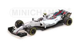 Williams Mercedes Benz - 2017 white/red-blue stripes - 1:18 - Minichamps - 117170018 - mc117170018 | Tom's Modelauto's