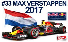 Bburago - Red Bull Racing   - bura332017-43 : 2017 Red Bull RB13 F1 #33 M.Verstappen Signature series, blue/red/yellow