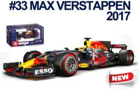 Bburago - Red Bull Racing   - bura38027V : 2017 Red Bull RB13 F1 #33 M.Verstappen, blue/red/yellow