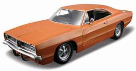 Maisto - Dodge  - mai312560o : 1969 Dodge Charger R/T, orange
