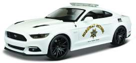 Maisto - Ford  - mai32514 : 2015 Ford Mustang GT Highway Patrol, white