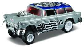 Maisto - Chevrolet  - mai15494-10125 : 1955 Chevrolet Nomad Gasser Outlaws, grey/blue