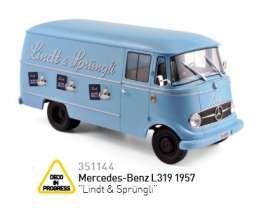 Norev - Mercedes  - nor351144 : 1957 Mercedes Benz L319 *Lindt & Sprüngli*, light blue
