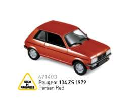 Peugeot  - 1979 corail red - 1:43 - Norev - nor471403 | Tom's Modelauto's