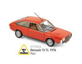 Norev - Renault  - nor511504 : 1976 Renault 15 TL, red