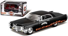 Cadillac  - 1965 black/orange - 1:64 - Maisto - 11380-05209 - mai11380-05209 | Toms Modelautos