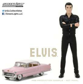 GreenLight - Figures Cadillac - gl29898-18 : 1/18 Elvis figure with 1/64 1955 Cadillac Fleetwood Series 60 *Elvis Presley (1935-77)* (Hobby Exclusive)