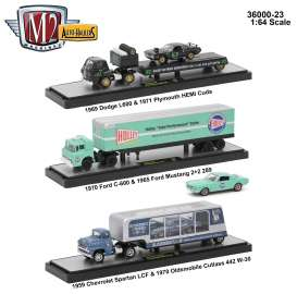 M2 Machines - Assortment/ Mix  - m2-36000-23~3 : Auto Haulers series 23, assortment of 3 pieces