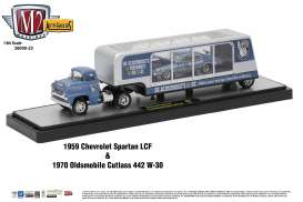 M2 Machines - Chevrolet Oldsmobile - m2-36000-23C : 1959 Chevrolet Spartan LCF + 1970 Oldsmobile Cutlass 442 W-30 *Auto Haulers series 23*