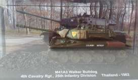 Magazine Models - Combat Vehicles  - magCMC004 : 1962 M41A3 Walker Bulldog 4th Cavalry Rgt 25th Infantry Division Thailand, army green