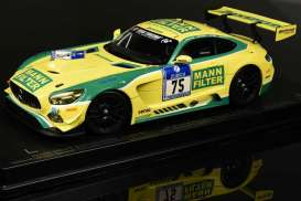 Mercedes Benz AMG - AMG GT3 #75 2016 yellow/green - 1:18 - Paragon - para88019 | Tom's Modelauto's