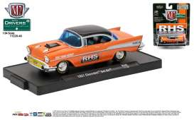M2 Machines - Chevrolet  - M2-11228-40A : 1957 Chevrolet Bel Air *RHS* M2-Drivers Release 40, orange/black