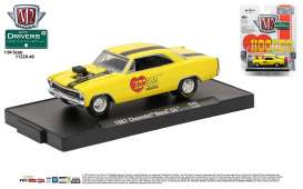 M2 Machines - Chevrolet  - M2-11228-40B : 1967 Chevrolet Nova SS *Hooker Headers* M2-Drivers Release 40, bright yellow