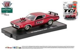 M2 Machines - Dodge  - M2-11228-40E : 1971 Dodge Charger R/T HEMI *TCI* M2-Drivers Release 40, red/black stripes