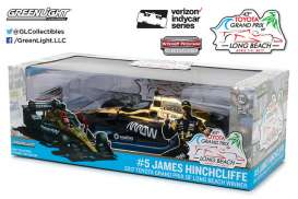 Dallara  - 2017 black/gold chrome - 1:18 - GreenLight - 11017 - gl11017 | Tom's Modelauto's