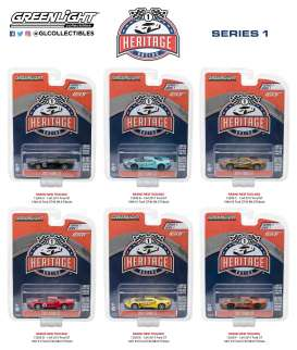 GreenLight - Ford Assortment/ Mix - gl13200~12 : 1/64 Ford GT Racing Heritage Series 1