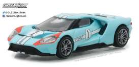Ford  - 2017 light blue/orange - 1:64 - GreenLight - gl13200B | Tom's Modelauto's