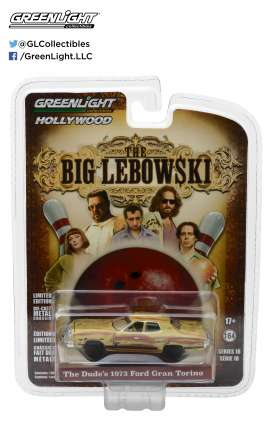 GreenLight - Ford  - gl44780D : 1973 The Dude's Ford Gran Torino *The Big Lebowski 1998* Hollywood series 18